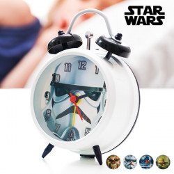 Star Wars Alarm Clock with Second Hand Stormtrooper
