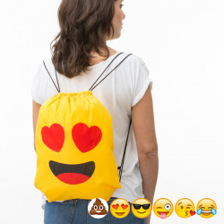 Zaino a Sacca con Corde Emoticon Kiss