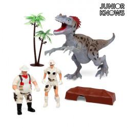 Forschungsspiel mit Dinosaurier