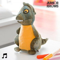 Junior Knows Stuffed Dinosaur with Voice Recorder and Playback