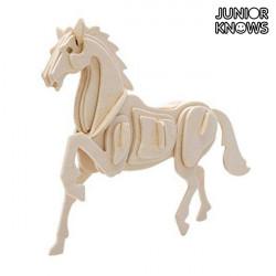 Puzzle 3D de Madera Animales de Granja Junior Knows