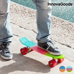 InnovaGoods Mini Cruiser Skateboard (4 Wheels) Tricolour