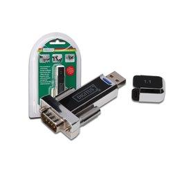 Digitus USB 1.1 zu Seriell Konverter, DSUB 9M inkl. USB A Kabel 80cm USB A M / USB A F CE, Chipsatz PL2303RA, 00471