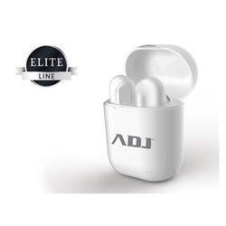 Adj Titanium Twins casque et micro Binaural écouteur Blanc