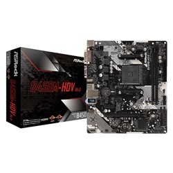 Asrock B450M-HDV R4.0 carte mère Emplacement AM4 Micro ATX AMD B450