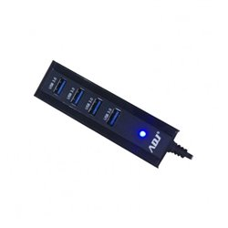 Adj 143-00012 hub & concentrateur USB 3.0 (3.1 Gen 1) Type-A 5000 Mbit/s Noir