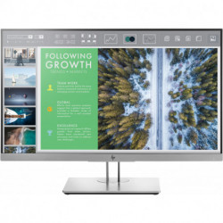 HP EliteDisplay E243 LED display 60.5 cm (23.8) Full HD Flat Black,Silver 1FH47AT