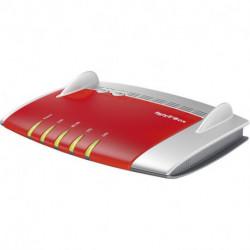 AVM FRITZ!Box 3490 International router inalámbrico Doble banda (2,4 GHz / 5 GHz) Gigabit Ethernet Rojo, Plata