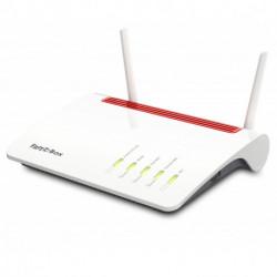 AVM FRITZ!Box 6890 LTE International router inalámbrico Doble banda (2,4 GHz / 5 GHz) Gigabit Ethernet 3G 4G Rojo, Blanco