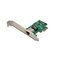 Digitus Gigabit PCI Express Card 10/100/1000 Mbit 32-bit, Realtek chipset, Incl. Low Profile Bracket Single-Lane PCI Express