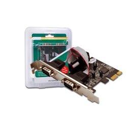 Digitus 2 x DB9 M carte et adaptateur d'interfaces Série Interne