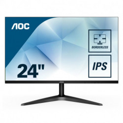 AOC Basic-line 24B1XHS pantalla para PC 60,5 cm (23.8) 1920 x 1080 Pixeles Full HD LED Plana Negro