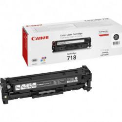 Canon CRG-718 Bk Original Negro 1 pieza(s)