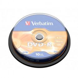 Verbatim DVD-R Matt Silver 4,7 Go 10 pièce(s)