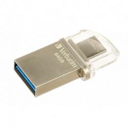 Verbatim Store 'n' Go OTG Micro lecteur USB flash 64 Go USB Type-A / Micro-USB 3.0 (3.1 Gen 1) Argent