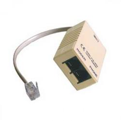 Digicom 8E4141 adaptateur et connecteur de câbles RJ-11 M 2 x RJ11 FM Beige, Gris
