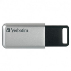 Verbatim Secure Pro unidad flash USB 64 GB USB tipo A 3.0 (3.1 Gen 1) Negro, Gris 98666