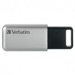Verbatim Secure Pro USB-Stick 64 GB USB Typ-A 3.0 (3.1 Gen 1) Schwarz, Grau