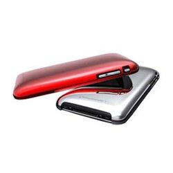 Konnet Shine Handy-Schutzhülle Cover Rot, Silber KN-5017