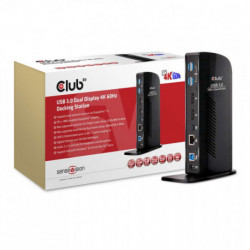 CLUB3D USB 3.0 Dual Display 4K60Hz Docking Station