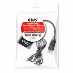 CLUB3D Multi Stream Transport Hub DisplayPort 1.2 to HDMI Dual Monitor