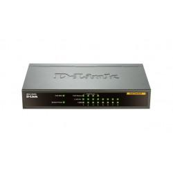 D-Link DES-1008PA network switch Unmanaged Fast Ethernet (10/100) Black Power over Ethernet (PoE)