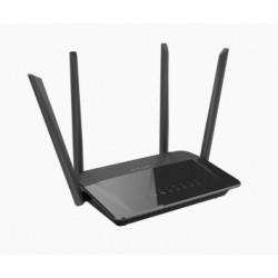 D-Link AC1200 Dual Band router inalámbrico Doble banda (2,4 GHz / 5 GHz) Gigabit Ethernet Negro
