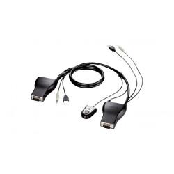 D-Link DKVM-222 câble kvm 1,8 m Noir