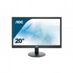 AOC Basic-line E2070SWN LED display 49,5 cm (19.5) 1600 x 900 pixels Mat Noir