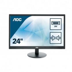 AOC Basic-line E2470SWDA LED display 59.9 cm (23.6) 1920 x 1080 pixels Full HD Flat Matt Black