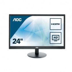 AOC Basic-line E2470SWHE LED display 59.9 cm (23.6) 1920 x 1080 pixels Full HD LCD Flat Matt Black
