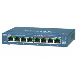 Netgear FS108-300PES commutateur réseau Non-géré L2 Fast Ethernet (10/100) Bleu