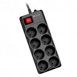 NGS Grid 800 Spannungsschutz 8 AC-Ausgänge 1,5 m Schwarz GRID800