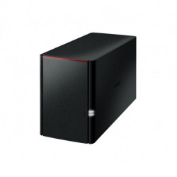 Buffalo LinkStation 220DR Ethernet/LAN Bureau Noir NAS