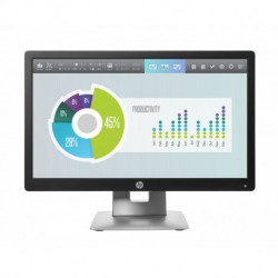 HP EliteDisplay E202 monitor de ecrã plano 50,8 cm (20) HD+ LED Preto, Prateado M1F41AT