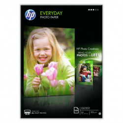 HP Q2510A papier photos Noir, Bleu, Blanc A4