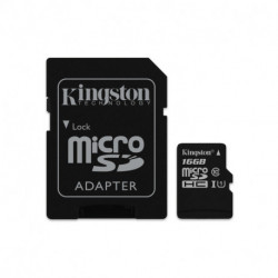 Kingston Technology Canvas Select mémoire flash 16 Go MicroSDHC Classe 10 UHS-I