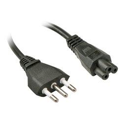 Lindy 2m, CEI23-16-VII - IEC 320 C5 câble électrique Noir Coupleur C5