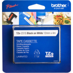 Brother TZE-231S cinta para impresora de etiquetas Negro sobre blanco
