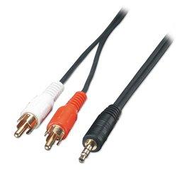 Lindy 35681 câble audio 2 m 3,5mm 2 x RCA Noir, Rouge, Blanc
