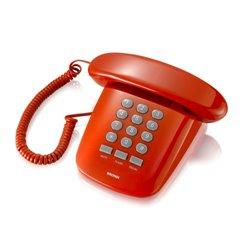 Brondi Sirio Teléfono analógico Rojo