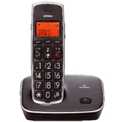 Brondi Bravo Gold Teléfono DECT Negro Identificador de llamadas