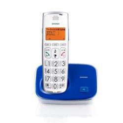 Brondi Bravo Gold 2 Teléfono DECT Azul, Blanco Identificador de llamadas