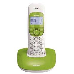 Brondi Nice Teléfono DECT Verde, Blanco Identificador de llamadas