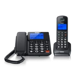 Brondi Bravo Style Combo DECT-Telefon Schwarz Anrufer-Identifikation