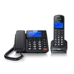 Brondi Bravo Style Combo Teléfono DECT Negro Identificador de llamadas